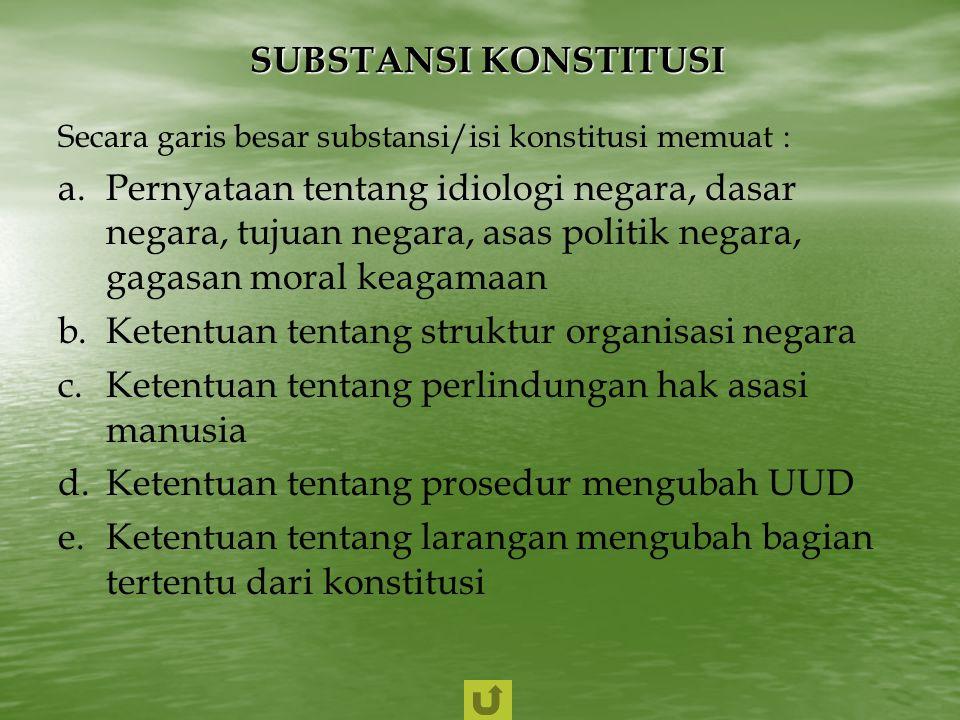 Ketentuan tentang struktur organisasi negara