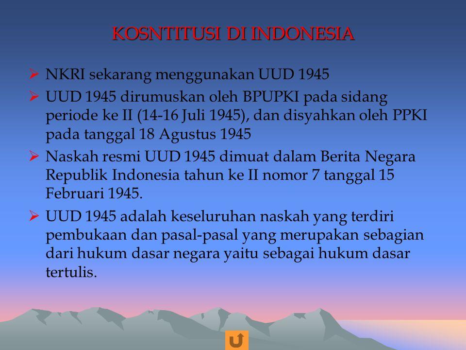 KOSNTITUSI DI INDONESIA