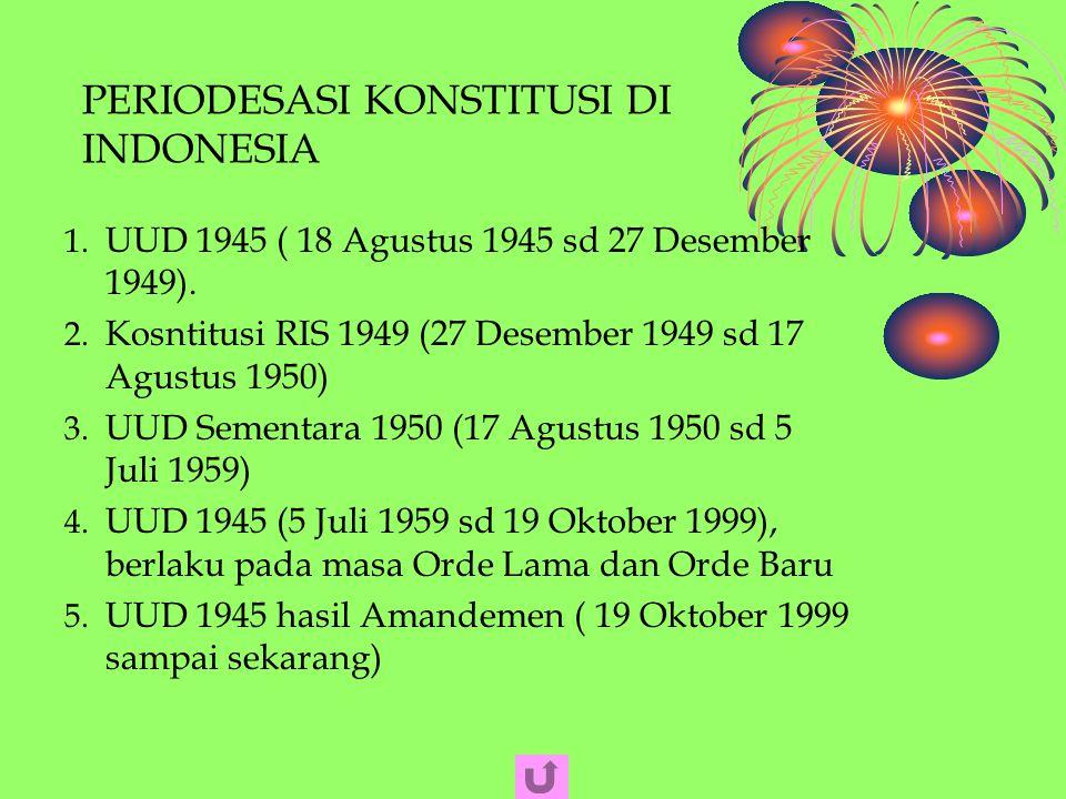 PERIODESASI KONSTITUSI DI INDONESIA