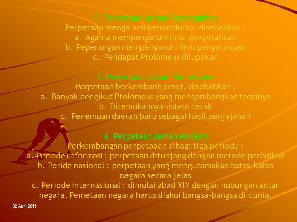 2. Perpetaan Jaman Pertengahan