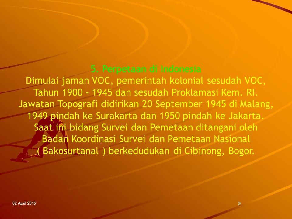 5. Perpetaan di Indonesia
