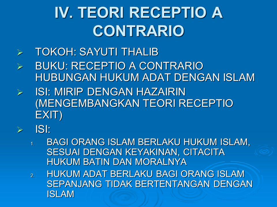 IV. TEORI RECEPTIO A CONTRARIO