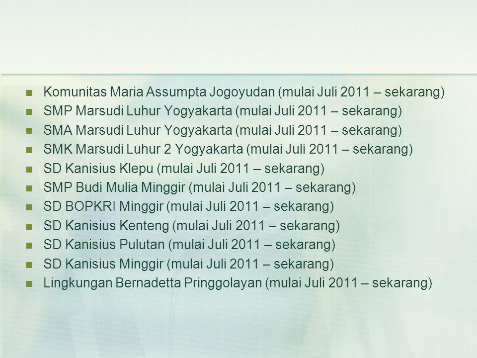Komunitas Maria Assumpta Jogoyudan (mulai Juli 2011 – sekarang)