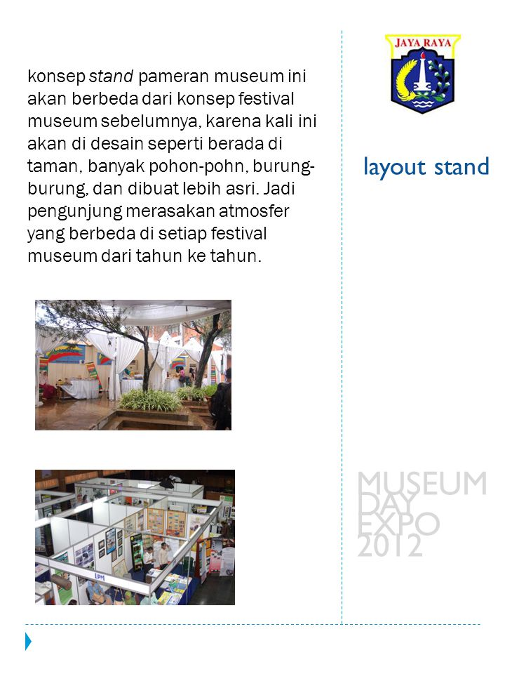MUSEUM DAY EXPO 2012 layout stand