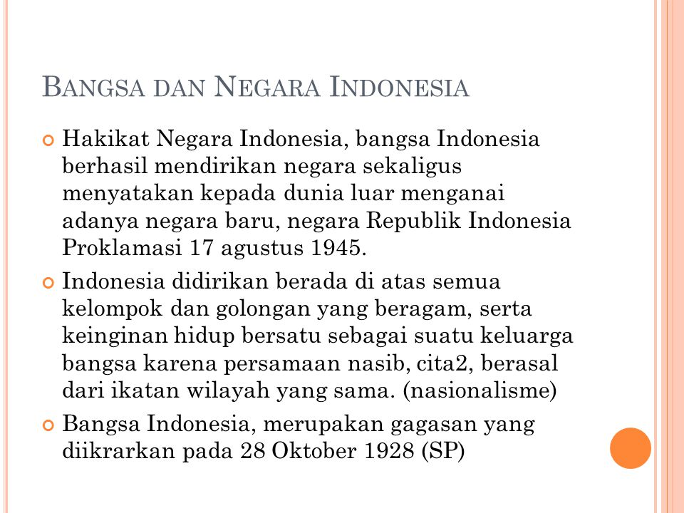 Bangsa dan Negara Indonesia