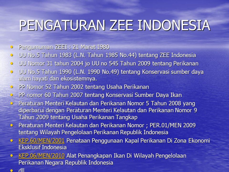 PENGATURAN ZEE INDONESIA