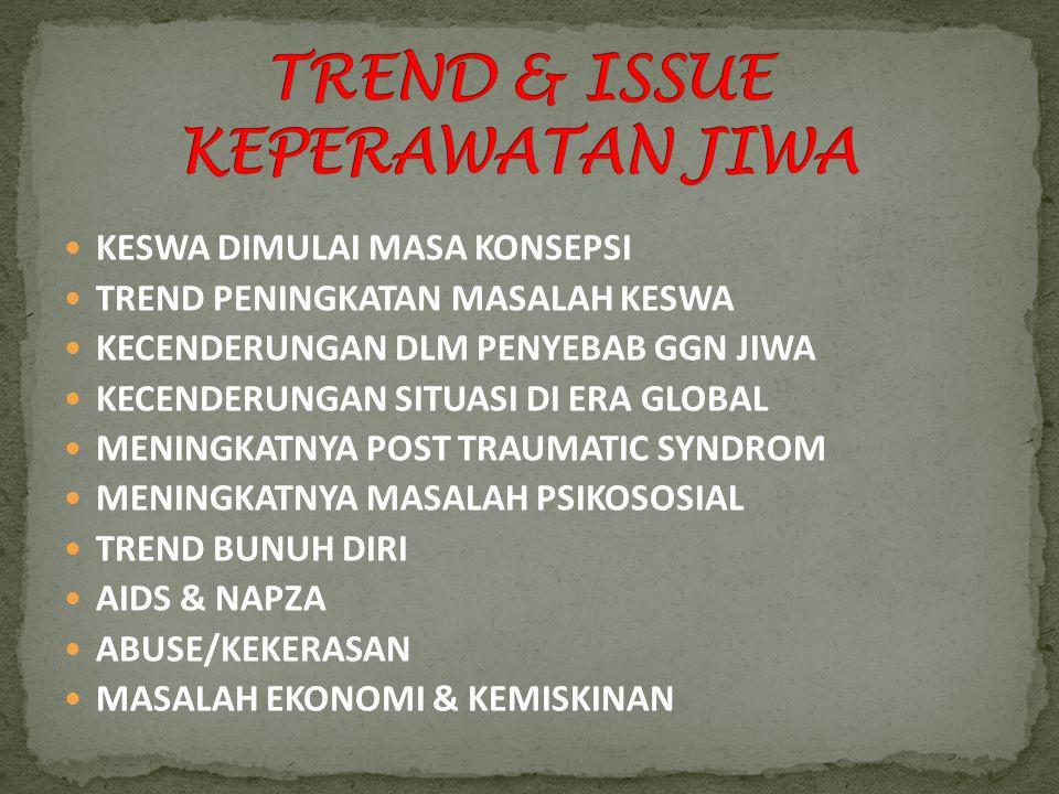 TREND & ISSUE KEPERAWATAN JIWA