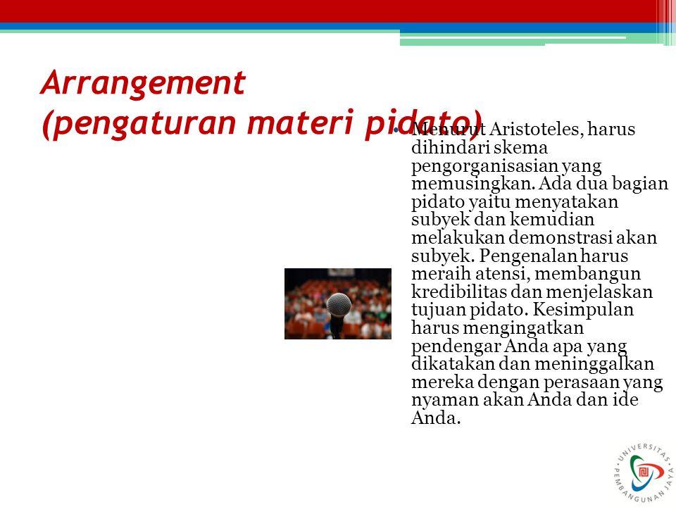 Arrangement (pengaturan materi pidato)