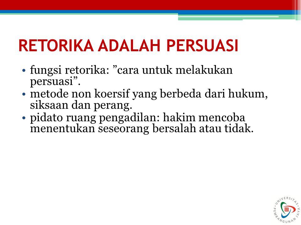 RETORIKA ADALAH PERSUASI