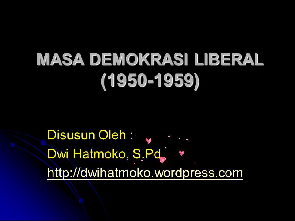 MASA DEMOKRASI LIBERAL (1950-1959)