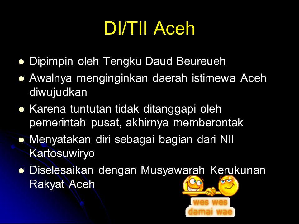 DI/TII Aceh Dipimpin oleh Tengku Daud Beureueh