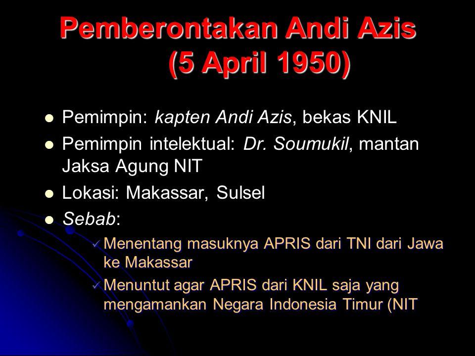 Pemberontakan Andi Azis (5 April 1950)