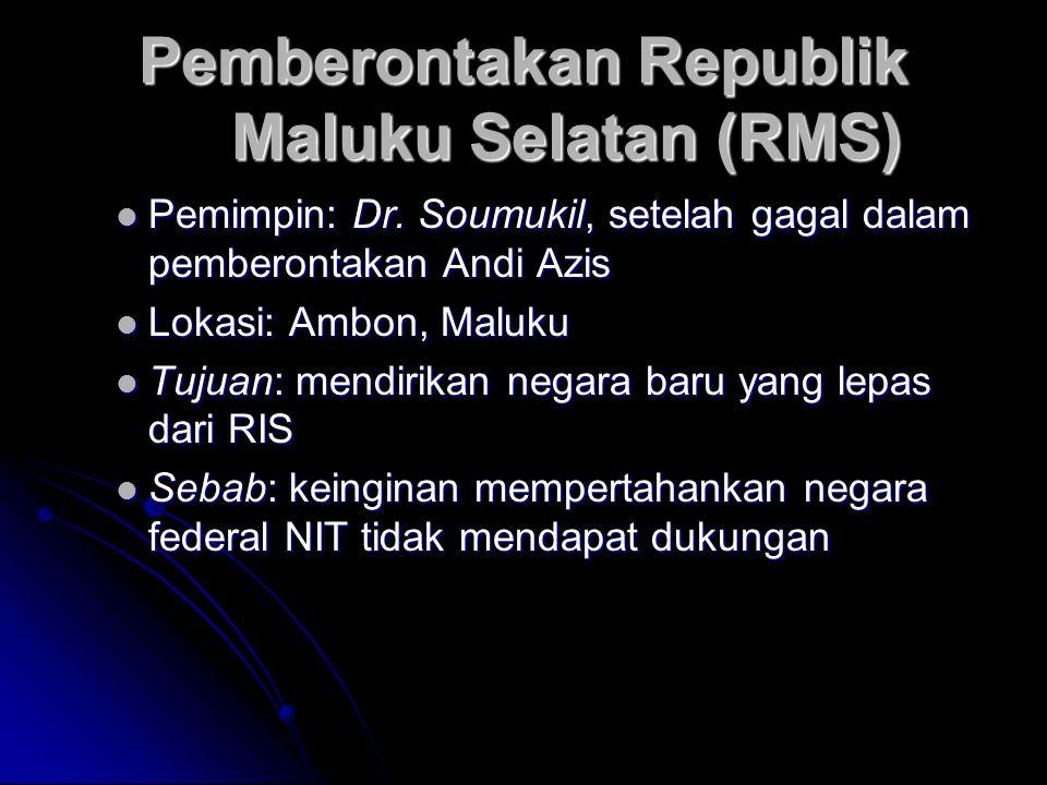 Pemberontakan Republik Maluku Selatan (RMS)