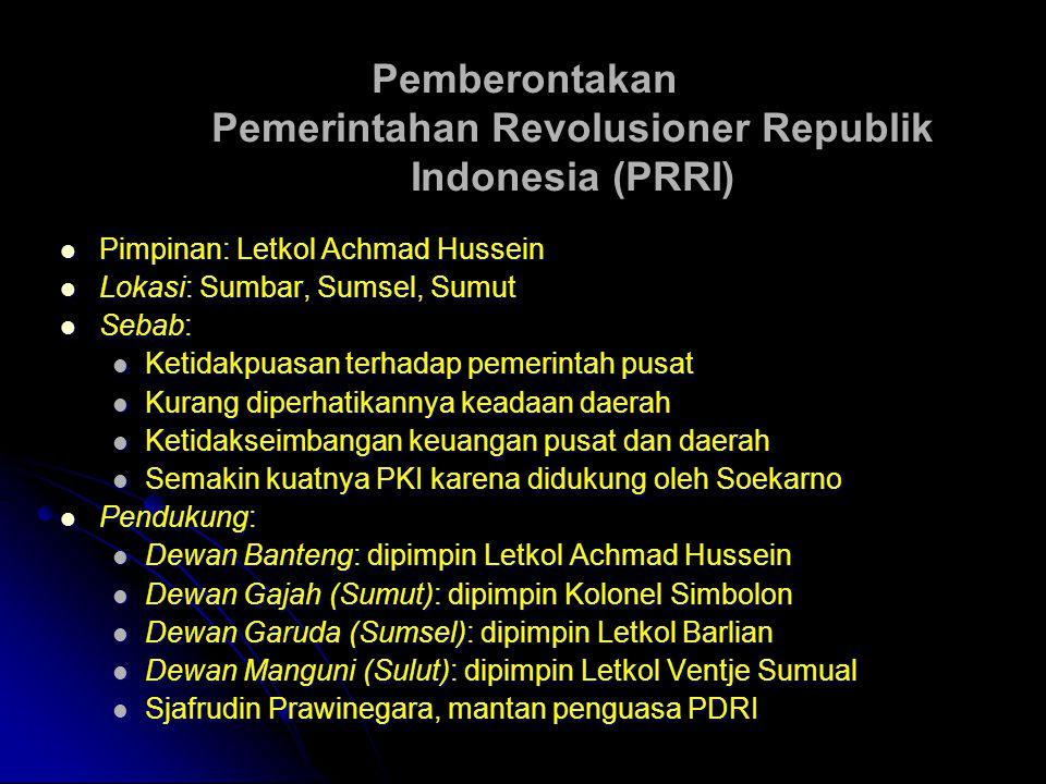 Pemberontakan Pemerintahan Revolusioner Republik Indonesia (PRRI)