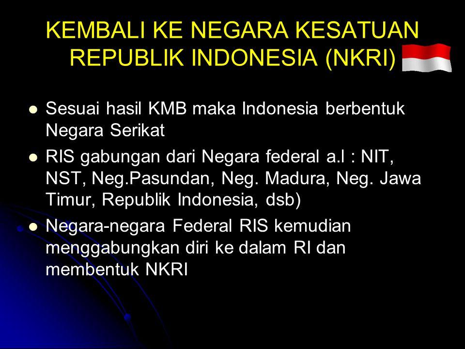 KEMBALI KE NEGARA KESATUAN REPUBLIK INDONESIA (NKRI)