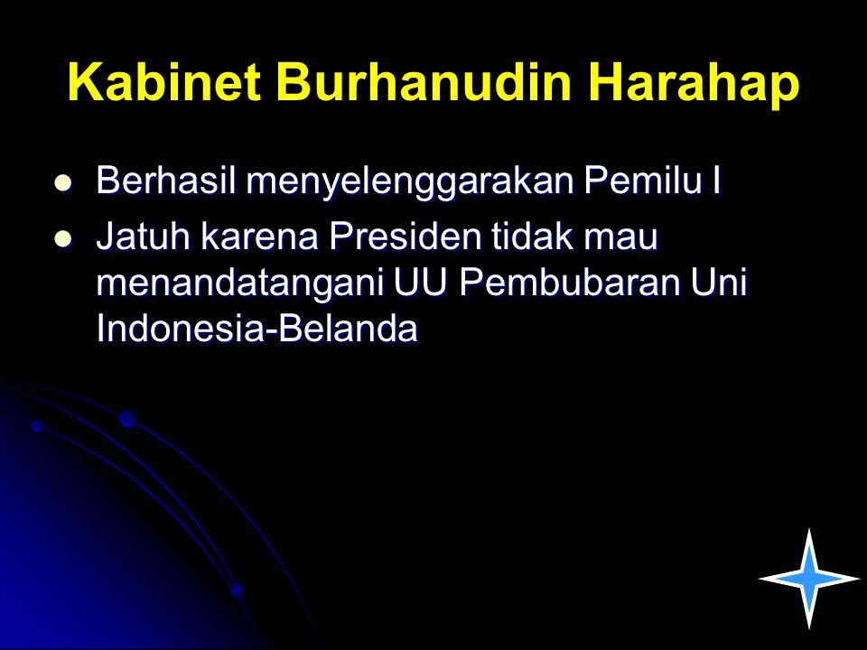 Kabinet Burhanudin Harahap