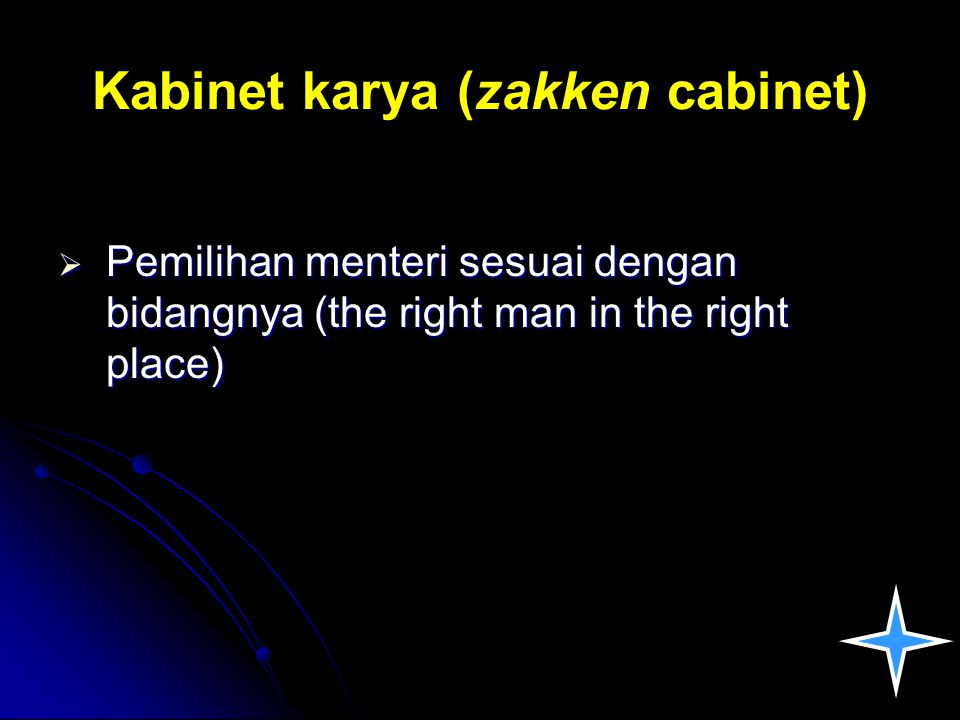Kabinet karya (zakken cabinet)