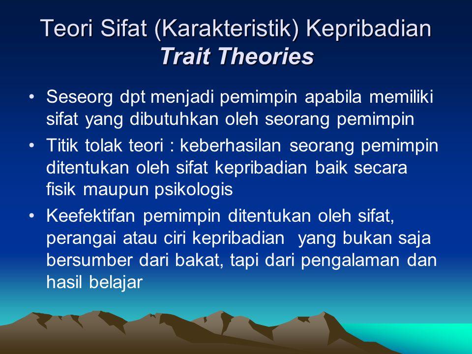 Teori Sifat (Karakteristik) Kepribadian Trait Theories