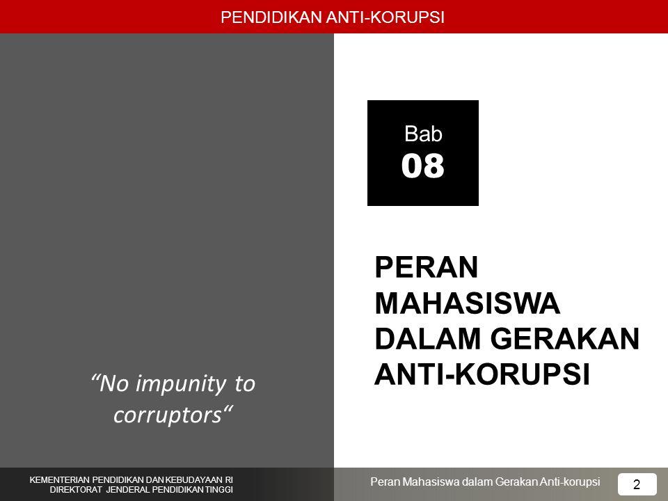 PERAN MAHASISWA DALAM GERAKAN ANTI-KORUPSI