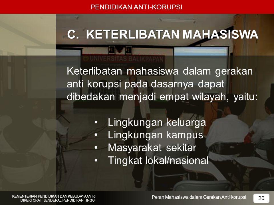 C. KETERLIBATAN MAHASISWA