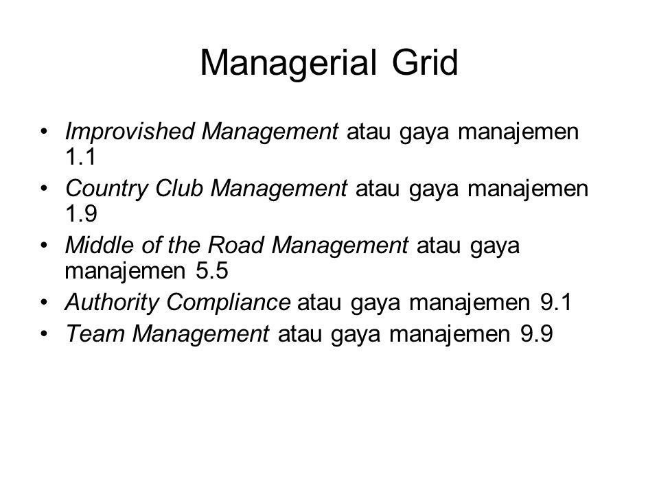 Managerial Grid Improvished Management atau gaya manajemen 1.1