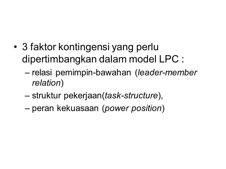 3 faktor kontingensi yang perlu dipertimbangkan dalam model LPC :