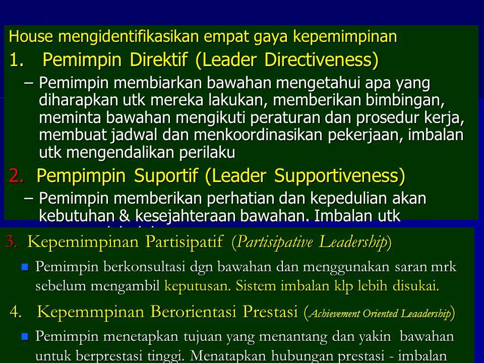 1. Pemimpin Direktif (Leader Directiveness)