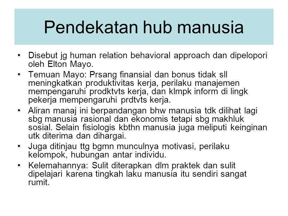 Pendekatan hub manusia