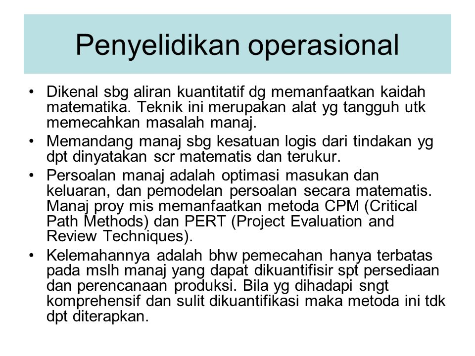 Penyelidikan operasional