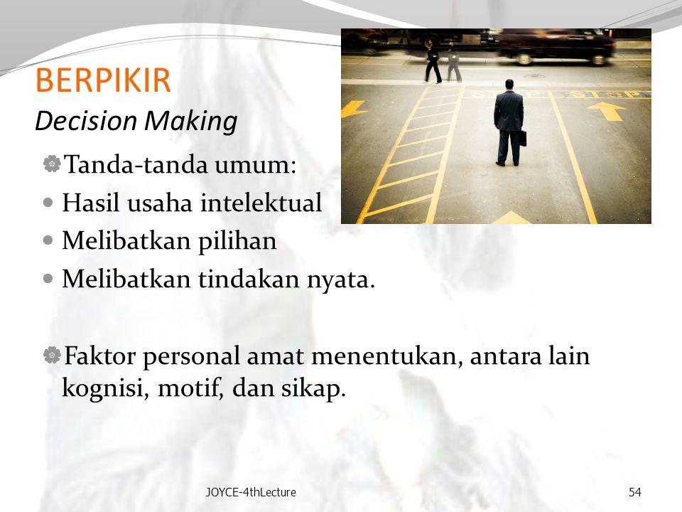 BERPIKIR Decision Making