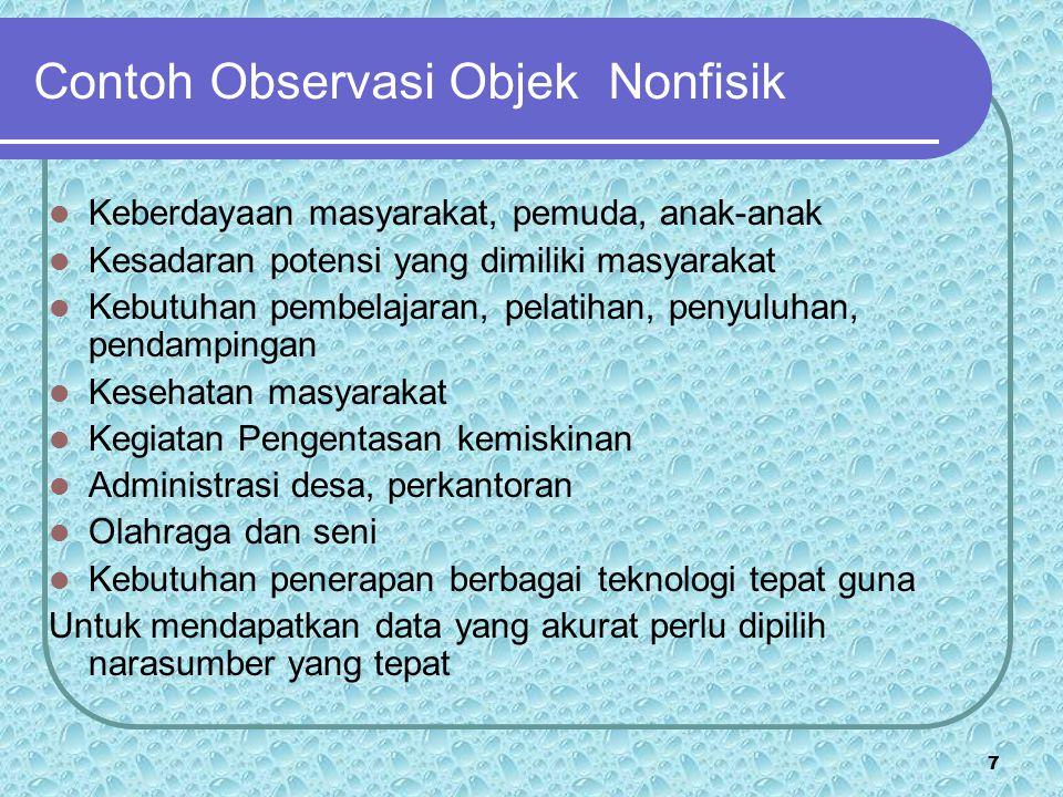 Contoh Observasi Objek Nonfisik