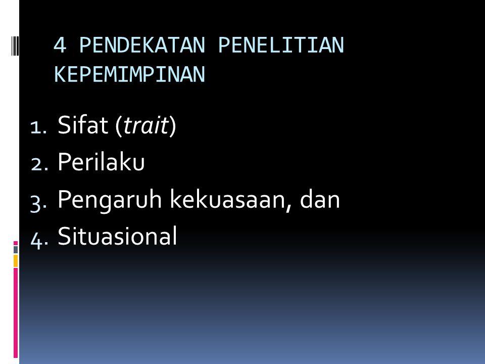 4 PENDEKATAN PENELITIAN KEPEMIMPINAN
