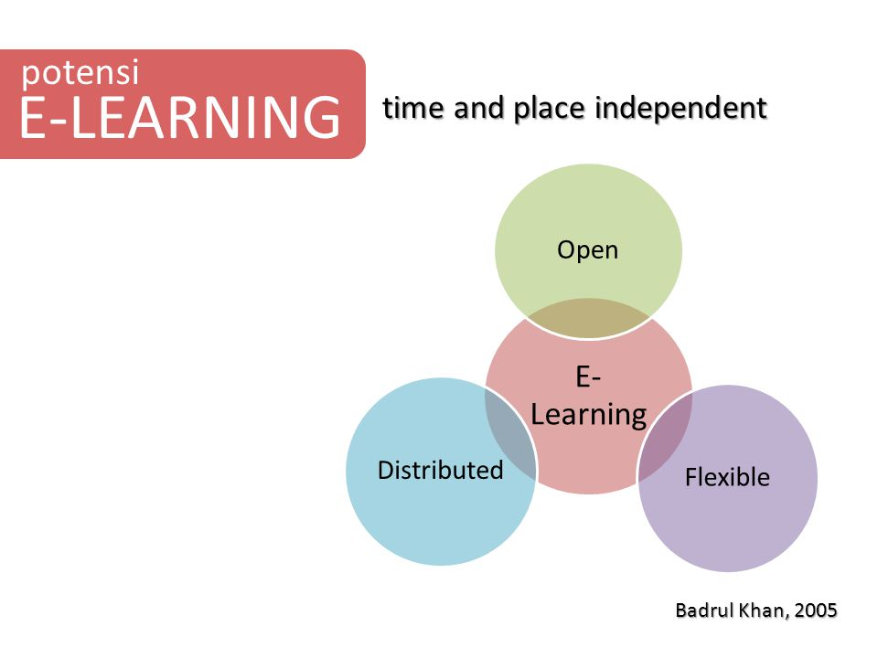 E-LEARNING potensi time and place independent E-Learning Open