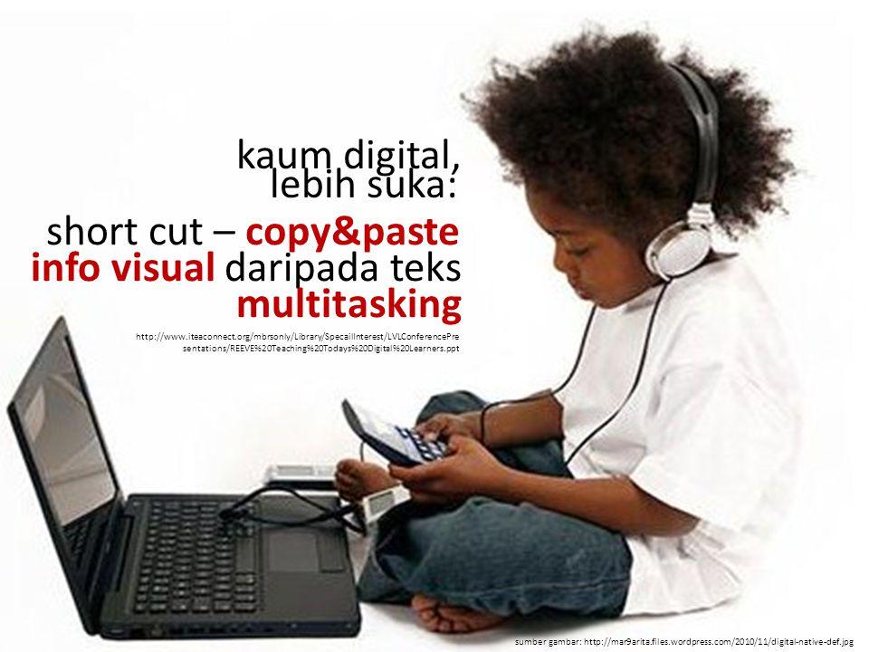 info visual daripada teks multitasking