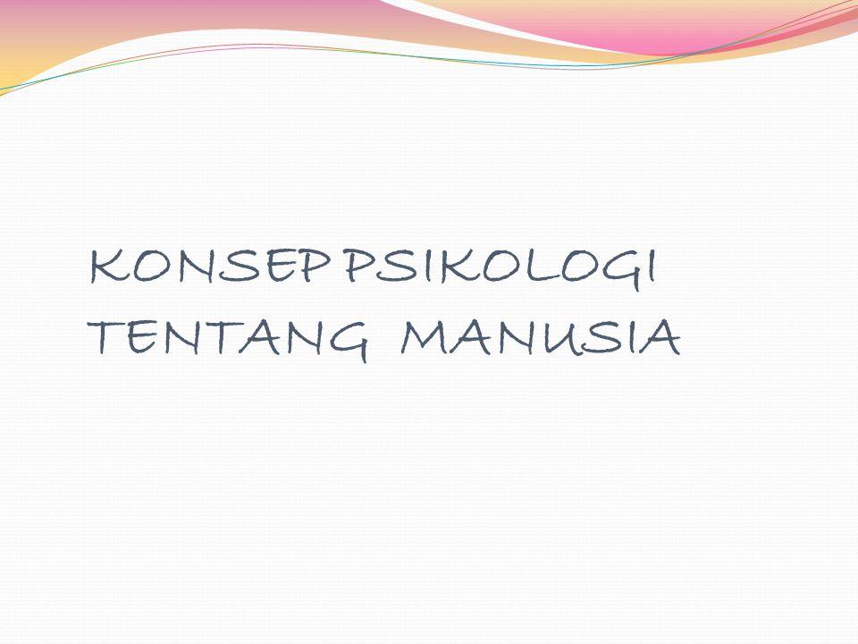 KONSEP PSIKOLOGI TENTANG MANUSIA