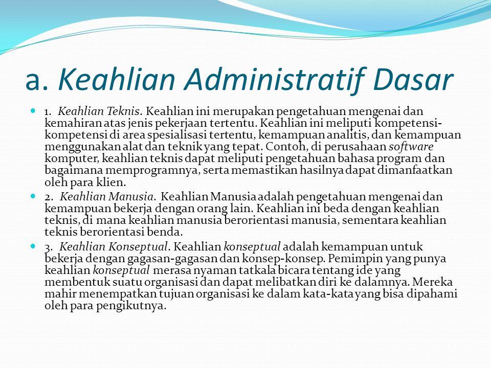 a. Keahlian Administratif Dasar