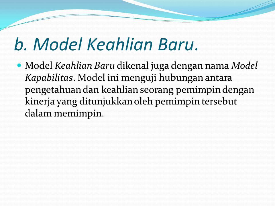 b. Model Keahlian Baru.