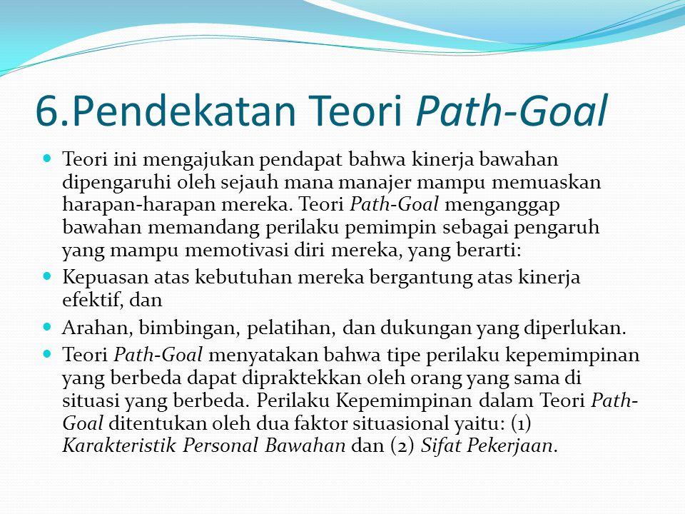 6.Pendekatan Teori Path-Goal
