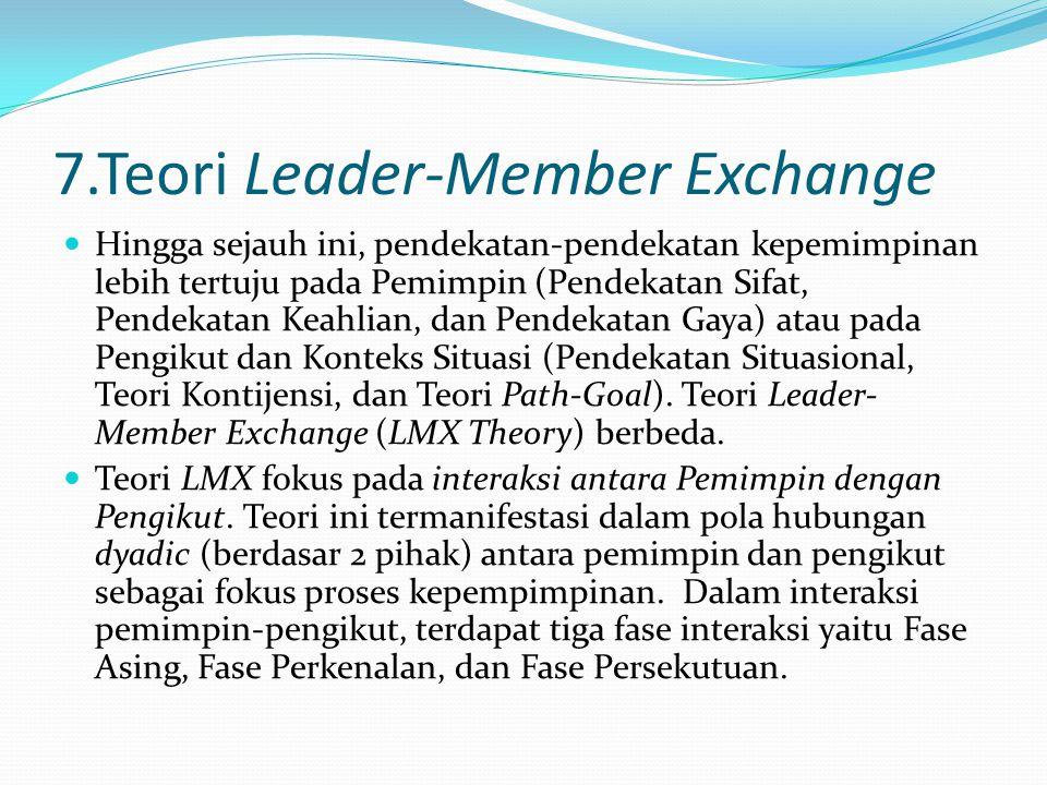 7.Teori Leader-Member Exchange