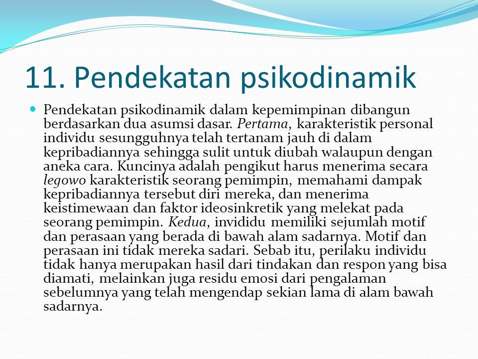 11. Pendekatan psikodinamik