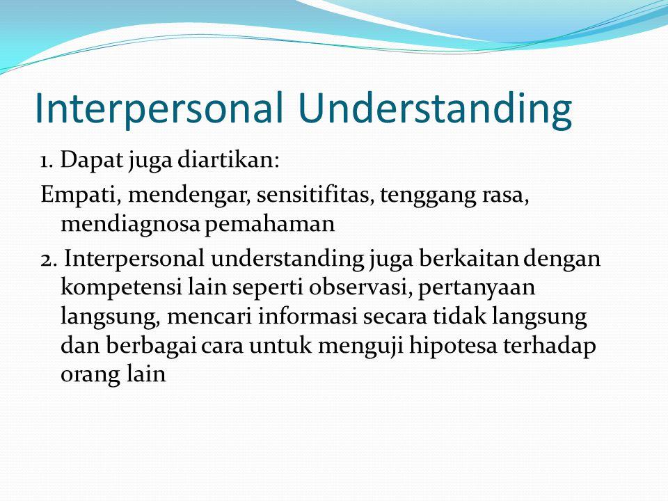 Interpersonal Understanding