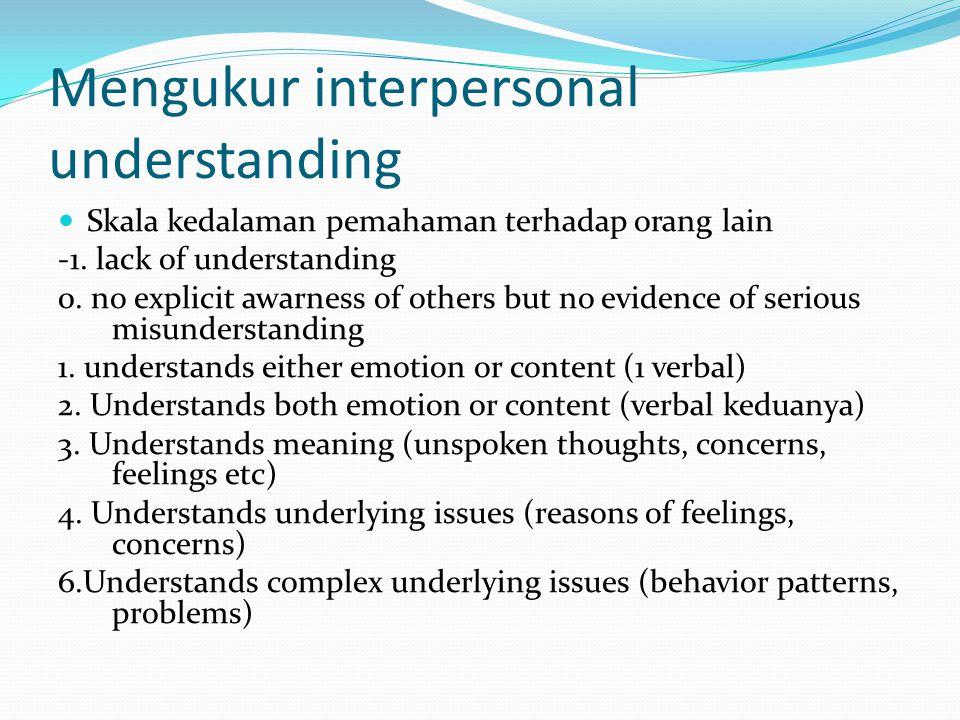 Mengukur interpersonal understanding