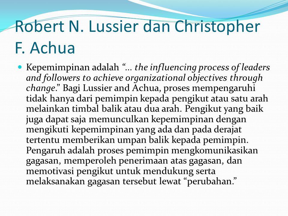 Robert N. Lussier dan Christopher F. Achua