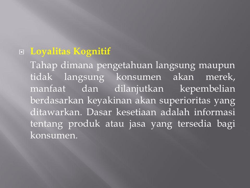 Loyalitas Kognitif