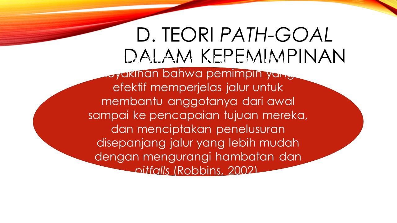 D. Teori path-goal dalam kepemimpinan