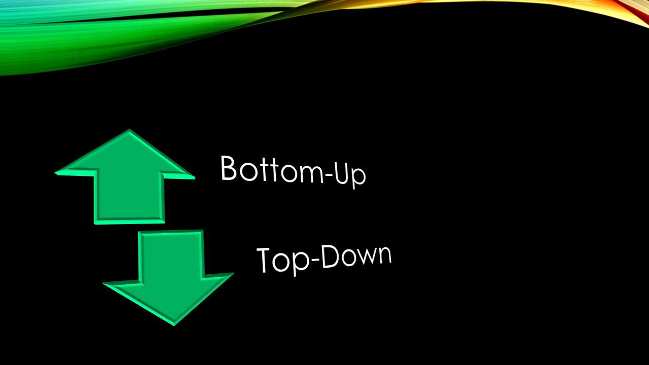 Bottom-Up Top-Down