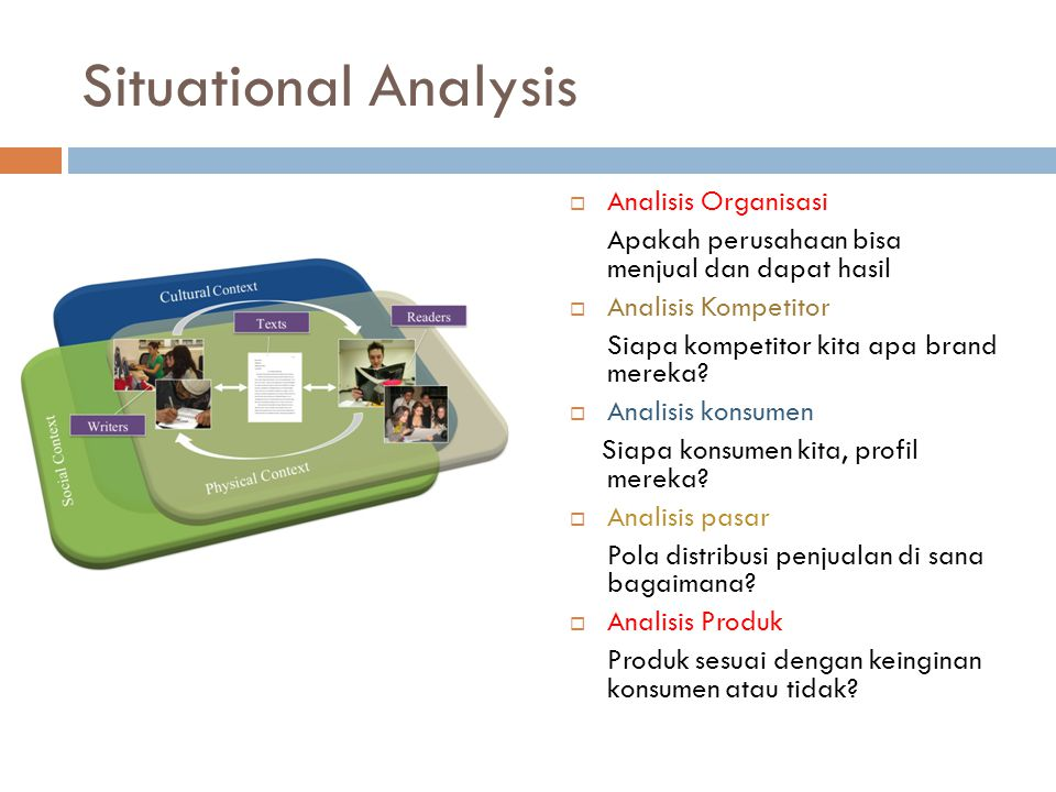 Situational Analysis Analisis Organisasi