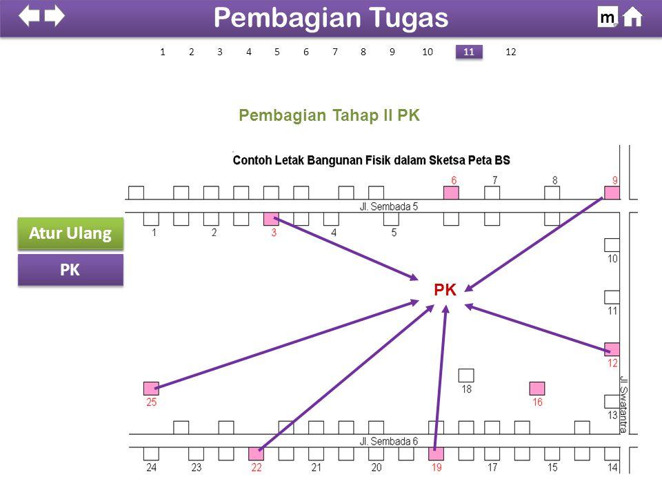 Pembagian Tugas m Sketsa Peta Atur Ulang PK Pembagian Tahap II PK PK 1