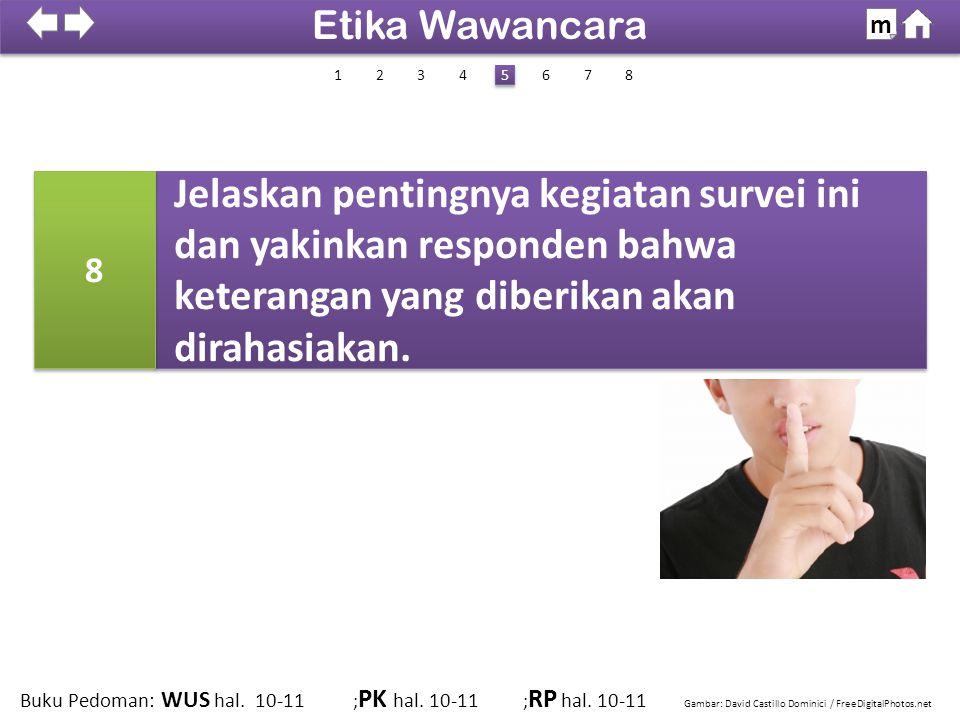 Etika Wawancara m. SDKI 2012. 100% 1. 2. 3. 4. 5. 6. 7. 8. 8.