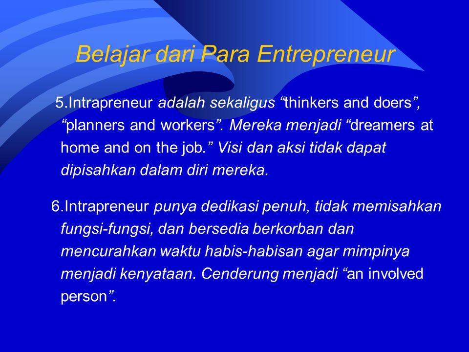 Belajar dari Para Entrepreneur